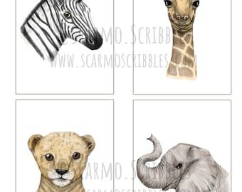 A5 Jungle Animals Eco Prints