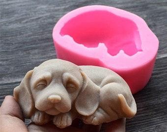 Dog Soap Mold, Cute Puppy Mold, Chocolate Cake Baking Mold Fondant Cake Dog Molds, animal candle mold, Diy candle mold craft, Diy candle