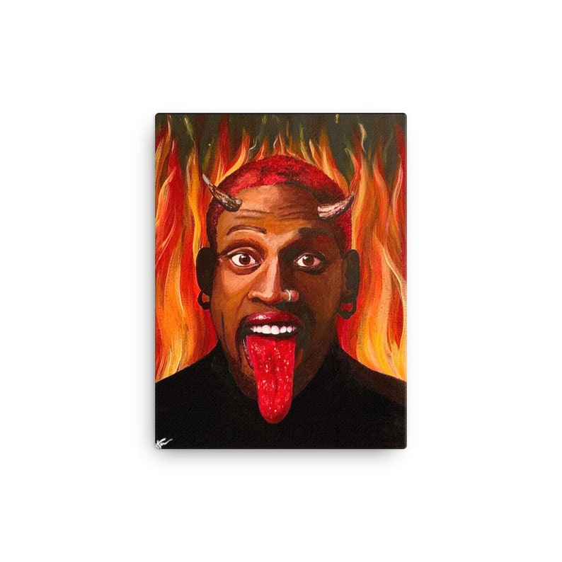 Dennis Rodman Canvas Print
