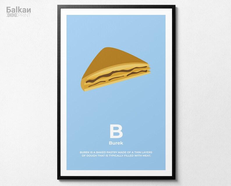 Burek Balkan ABC Poster Print Illustration Serbia Bosnia image 0