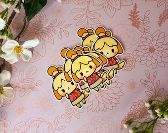 Isabelle Stickers | Animal Crossing New Horizons Stickers | ACNH Stickers | High Quality Glossy Stickers