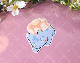 Bulbasaur Stickers | Pokemon Stickers | PKMN Stickers | Pancake Dessert Stickers | High Quality Glossy Stickers