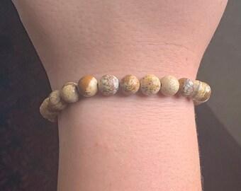 Photo Jasper- beaded bracelet- harmony,  & creative visualization.