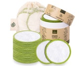 Greenzla Reusable Makeup Remover Pads (20 Pack) With Washable Laundry Bag And Round Box 100 Organic Bamboo Cotton Pads For All Skin Types