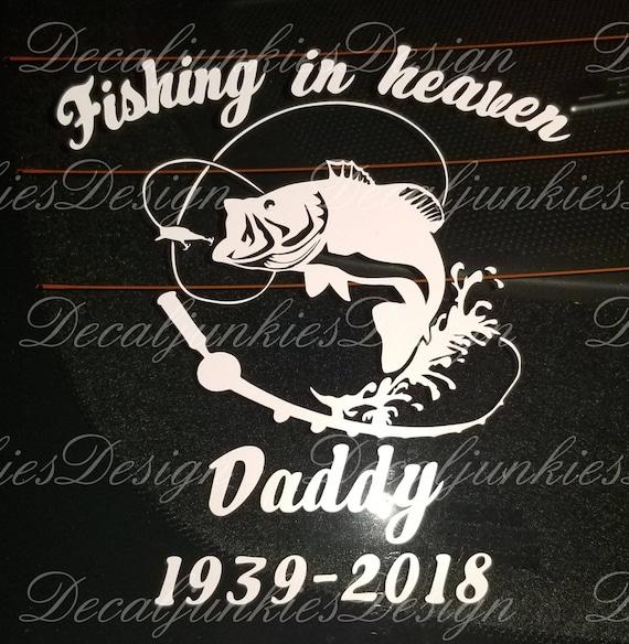 Download Fishing In Heaven Fishing Grandpa Daddy Father Friend Etsy