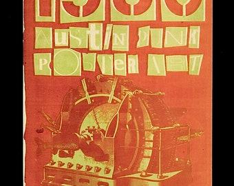 Original 1987 Texas Kozik Punk Concert Music Poster Accused Executioners