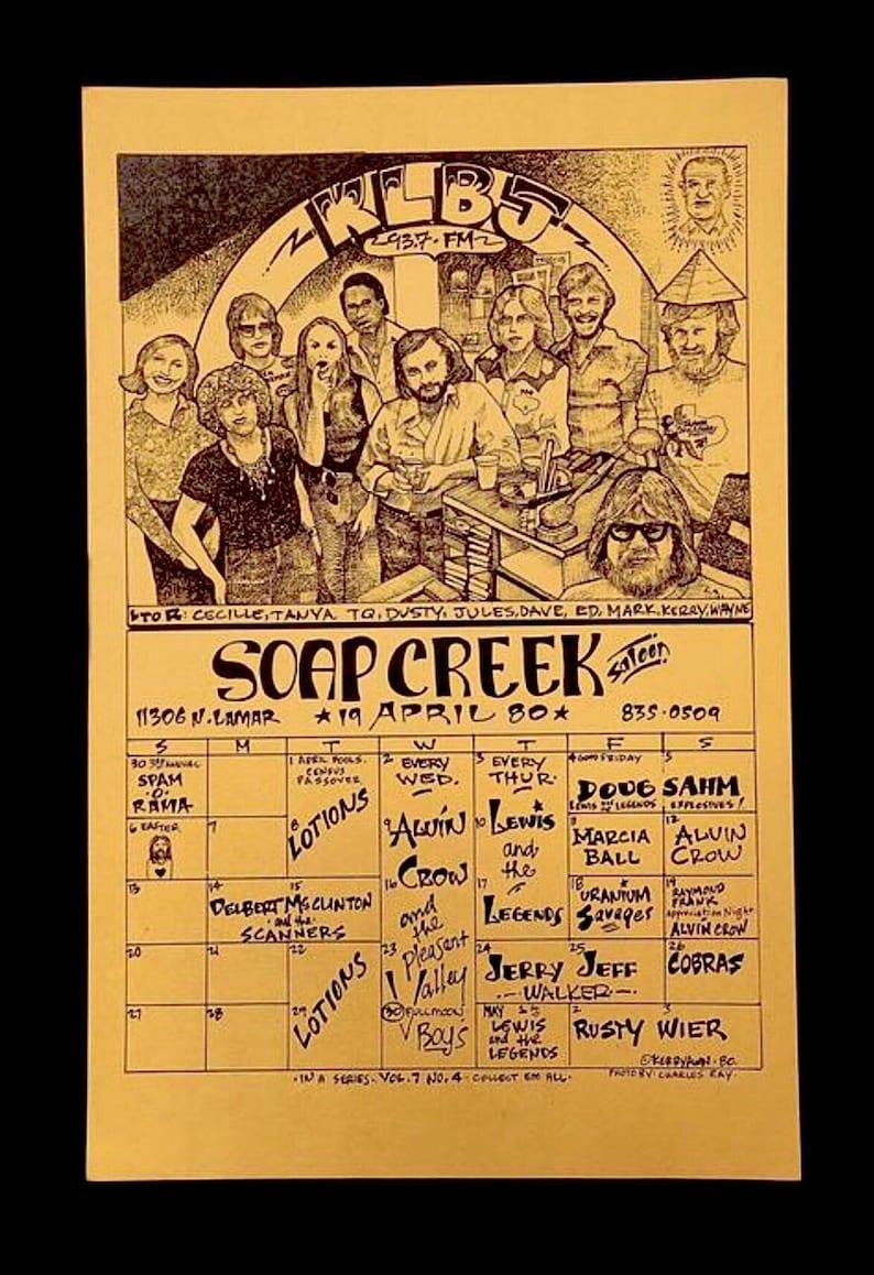 Rusty Wier Austin Texas Concert Poster 1980 Doug Sahm Jerry Jeff Walker