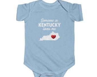 My Aunt in Kentucky Loves Me Baby Romper