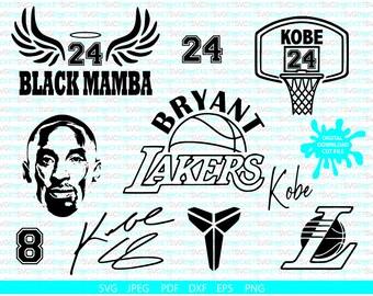 Kobe Bryant Svg Etsy