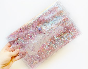 Iridescent Confetti Bag - Yami Kawaii - Mylar Confetti Purse - Gifts Under 30 - Iridescent Clutch