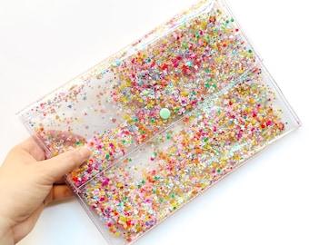 Holographic Bag - Iridescent Glitter Bag - Yami Kawaii - Gifts Under 30 - Iridescent Clutch