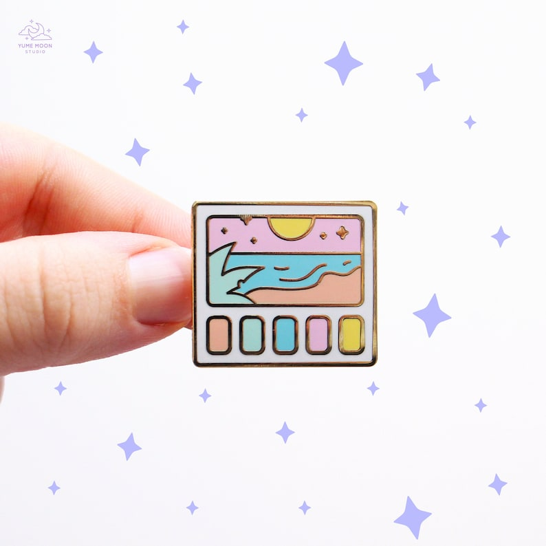 Beach Scenery Swatches Enamel Pin