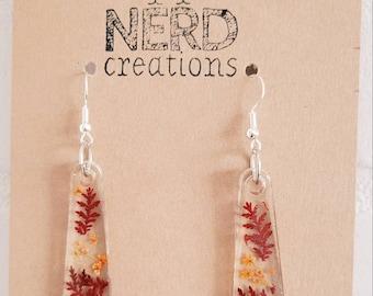 Fall flower resin earrings