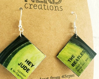 Variety - The Beatles record label earrings