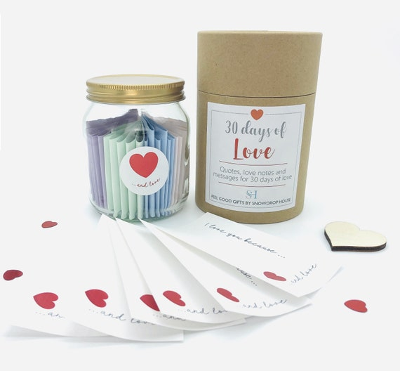 Love Gift Jar 30 Days Of Quotes Date Night Ideas Reasons I Etsy