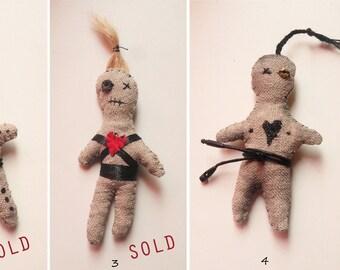 Voodoo doll, hoodoo, magic, occult, artistic voodoo doll, art doll, small voodoo, handmade voodoo