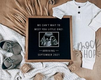 Digital Pregnancy Announcement /  Social Media / Gender Neutral / Digital  Pregnancy Announcement / Pregnancy Reveal /  Letter Board Baby /