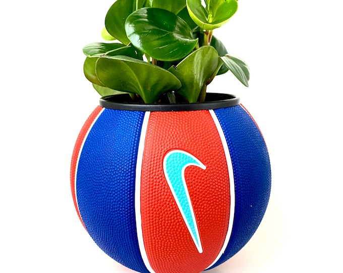 Nike Mini Basketball Planter - Blue/Red