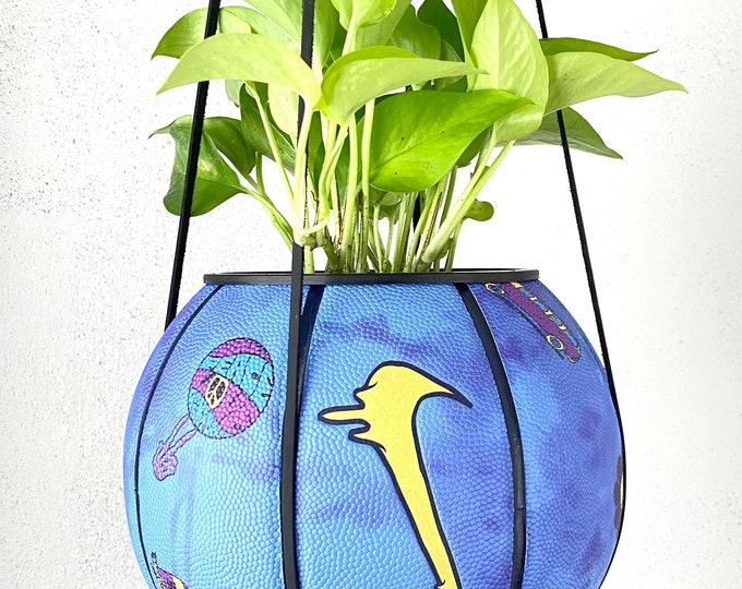 Peace, Love, & Plantsketball - Basketball Planter