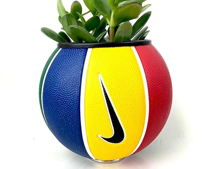 Nike Mini Basketball Planter - Red/Blue/Yellow/Green