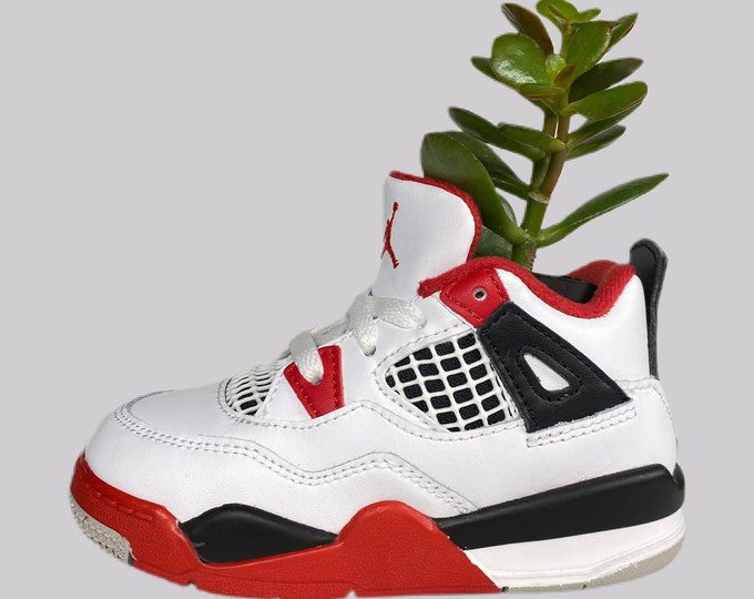 "Air Jordan 4 ""Fire Red"" Sneaker Planter by Plantsketball"