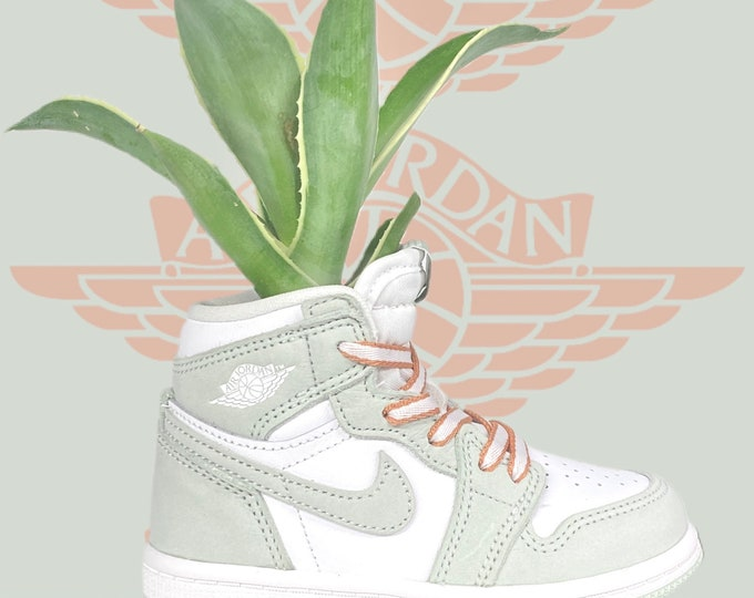 "Air Jordan 1 ""Seafoam"" Sneaker Planter by Plantsketball"