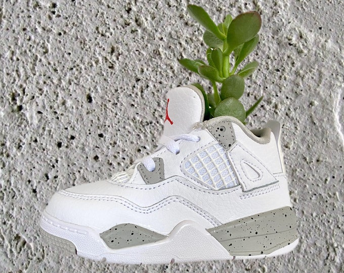 """Air Jordan 4 """"Tech White"""" Sneaker Planter by Plantsketball"""