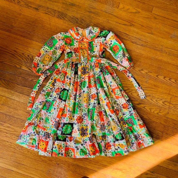 Magical 60s Children's Peasant Dress
