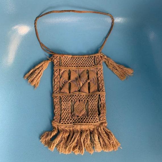 Antique Crocheted Cotton & Silk Handbag: 1900s-192