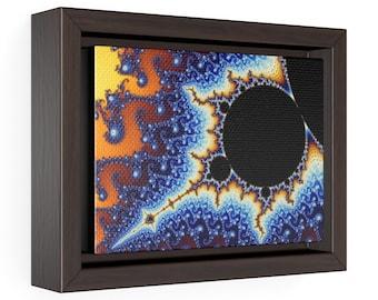 One Million Times Fractal Zoom Mandelbrot Set Antenna Horizontal Framed Premium Gallery Wrap Canvas
