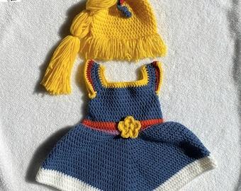 Rainbow Brite Doll Halloween Costume – Baby Dress – 0 – 3 Months – Rainbow Brite Wig – Infant Costume – Newborn – Handmade – READY TO SHIP