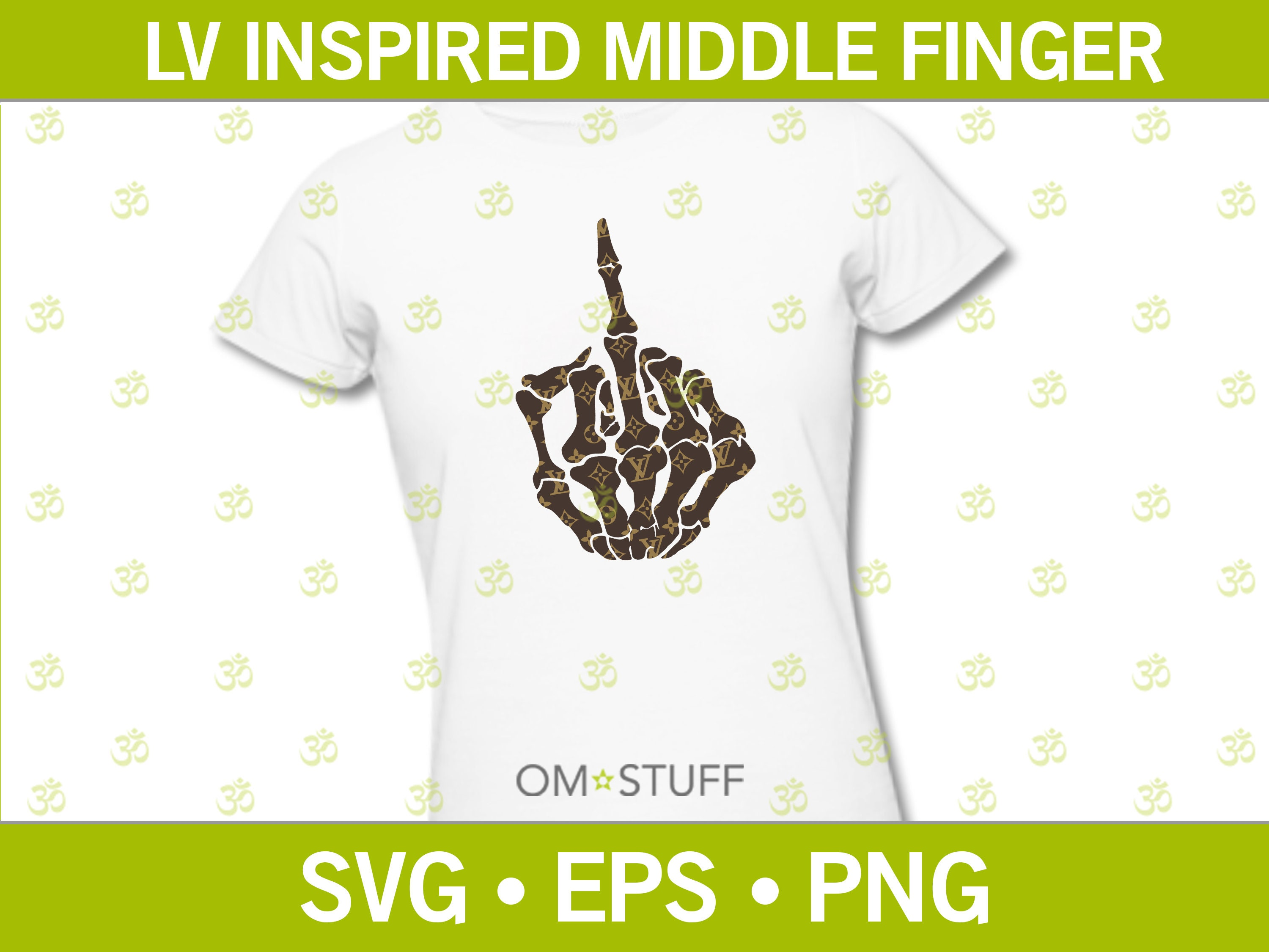 Lv Inspired Louis Vuitton Svg Skeleton Middle Finger Design Etsy