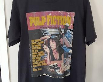 """Pulp Fiction T-shirt Vintage Look Retro T-shirt XL Size 22"""""""