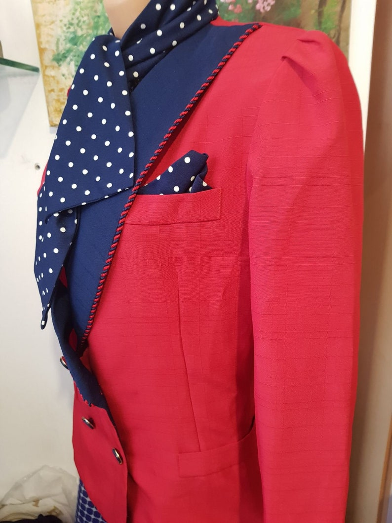 VTG 80S Women Jacket Wiith Scarves Size S