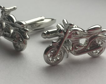 Bike motorcycle 216n Personalised box option racing bike biker NOVELTY CUFFLINKS gift idea