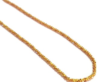 """Italian Sparkle Chain YG or RG over Sterling Silver (36"""") 7.1 g"""