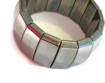 Men's Hematite Stretch Bracelet (725.00 ctw.)