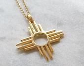 ZIA Sun Symbol Charm, New Mexico, Pueblo Native American Indian, Southwestern Jewelry