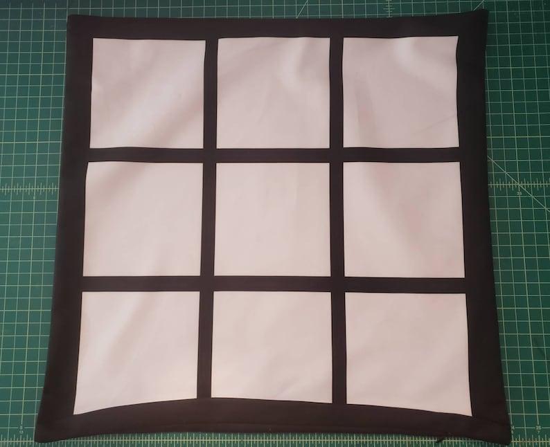 9 Panel Pillow Case for Sublimation  Sublimation Pilloe Case image 0