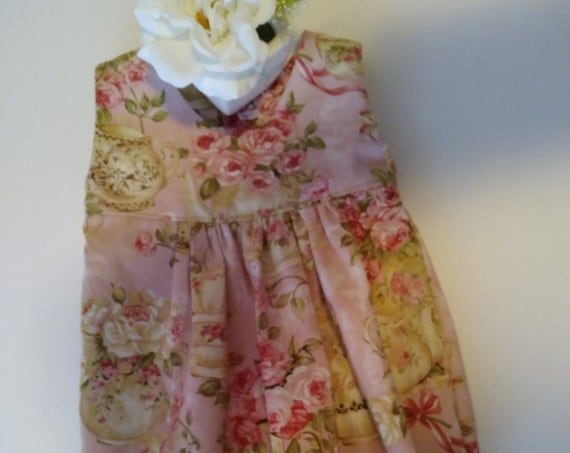 CLOTHES For REBORN Baby DOLLS ~ Rompers and Smocked Bonnet Sets ~ Newborn to 3 Months Size ~  Tea & Roses Romper ~ Ready To Ship!