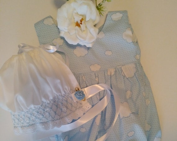 REBORN Baby DOLL CLOTHES ~ Smocked Bonnets and Romper Sets ~ Newborn Size For Reborn Babies ~ Ready To Ship!