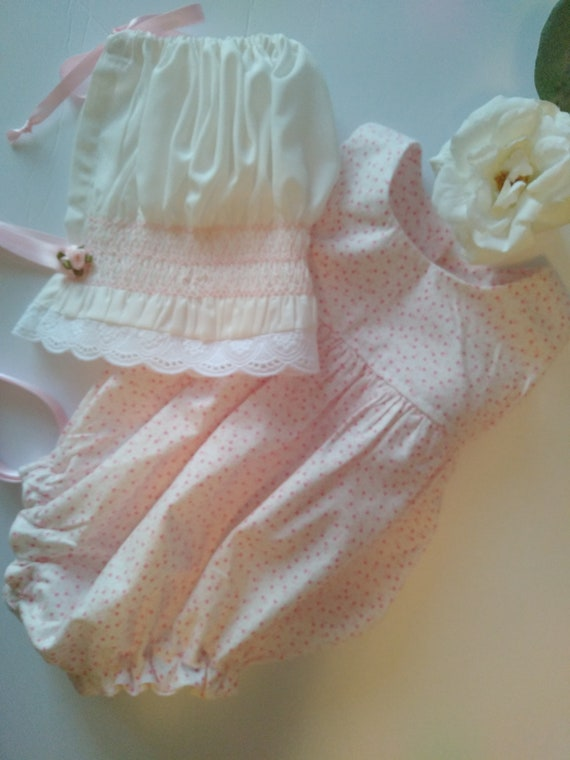 Reborn Babies DOLL BONNET and ROMPER Sets ~ Newborn to 3 Months Size For Reborn Baby Dolls ~ Ready To Ship!