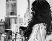 "Oil Painting ""Manhattan"" by Jennifer Gehr, Original Painting or Art Print, Black & White Art"