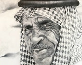 "Oil Painting ""Bedouin"" by Jennifer Gehr, Original Painting or Art Print, Black & White Art"