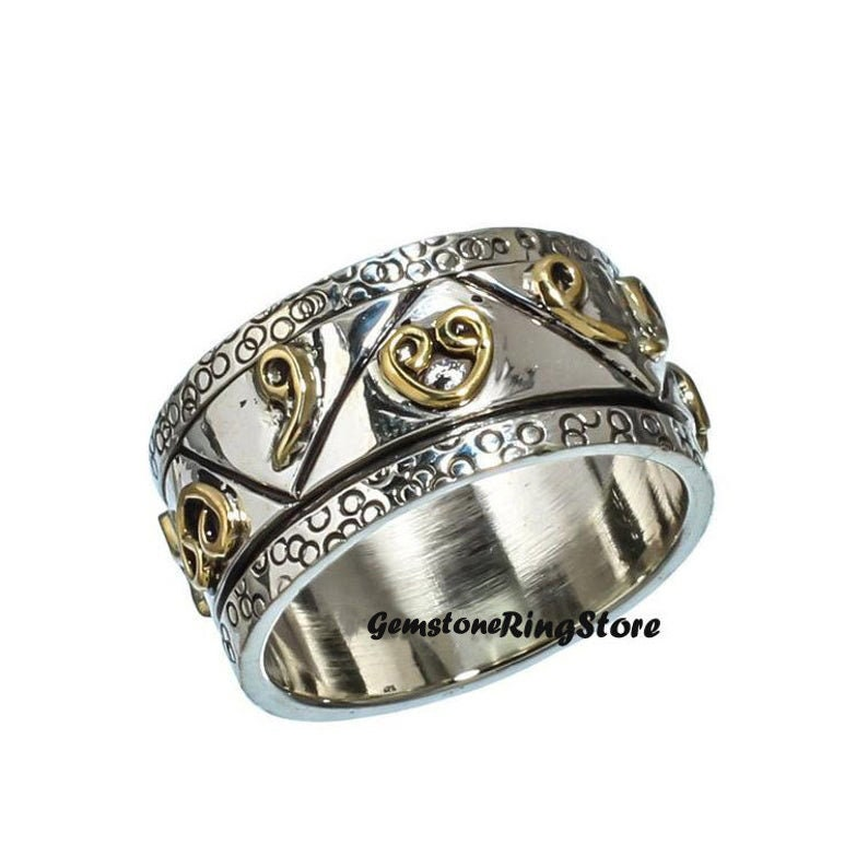 Sterling Silver Ring Gift For Her,Mediation Ring Worry Ring Anxiety Ring Spinner Ring 925 Silver Ring Handmade Ring Labradorite Ring