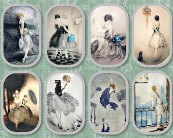 vintage Digital Prints instant Download vintage fashion women icart home decor ephemera junk journal