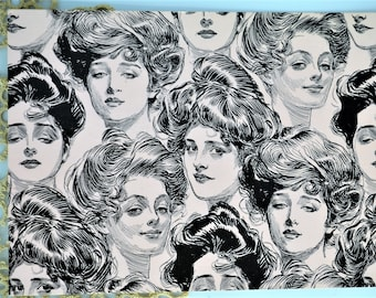Gibson Girls Postcard Set of Three-Vintage-1984 Reproduction-