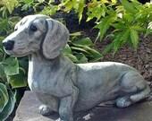 Cute Garden Resin Sculpture,  Outdoor Ornaments Decorations ,Art Animal Figurine Dog Statue