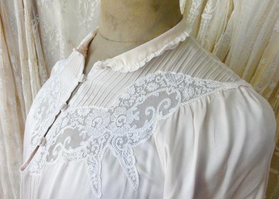 Vintage Seiden Nachhemd Lingerie Boudoir Dekoratio