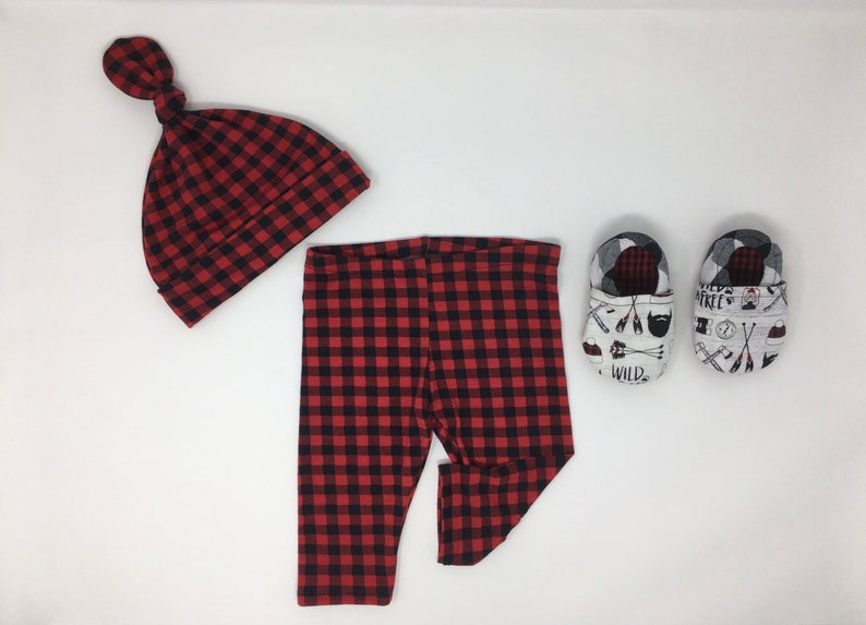 Beanie Legging Moccasin Set* Christmas Buffalo Gift Outfit